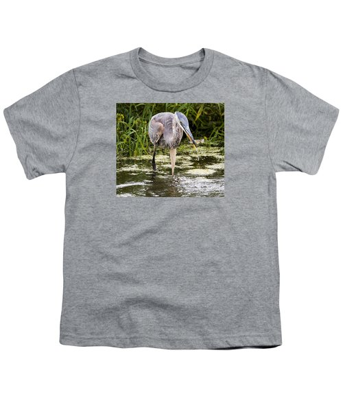 Youth T-Shirt featuring the photograph The Great Blue Heron by Ricky L Jones