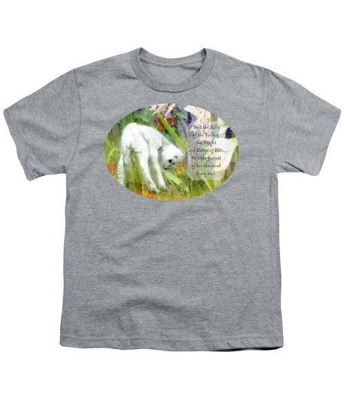 The Lily Of The Valley - Lyrics Youth T-Shirt
