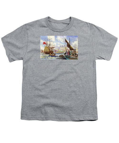 The Tower Of London In The Late 17th Century  Youth T-Shirt by English School