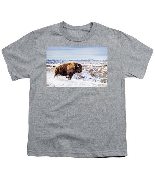 Thunder In The Snow Youth T-Shirt by Rikk Flohr
