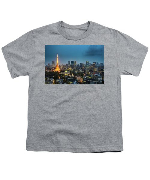 Tokyo Tower And Skyline Youth T-Shirt