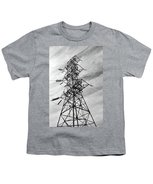 Transmission Tower No. 1-1 Youth T-Shirt by Sandy Taylor