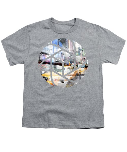 Trendy Design Nyc Geometric Mix No 9 Youth T-Shirt by Melanie Viola