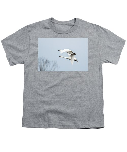 Tundra Swan Lift-off Youth T-Shirt