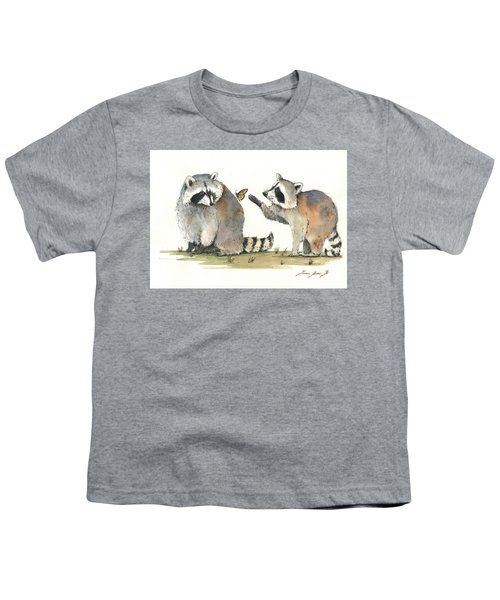 Two Raccoons Youth T-Shirt