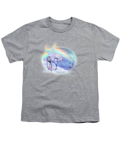 Unicorn Of The Rainbow Youth T-Shirt by Carol Cavalaris