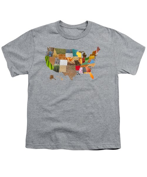 Vibrant Textures Of The United States Youth T-Shirt by Design Turnpike