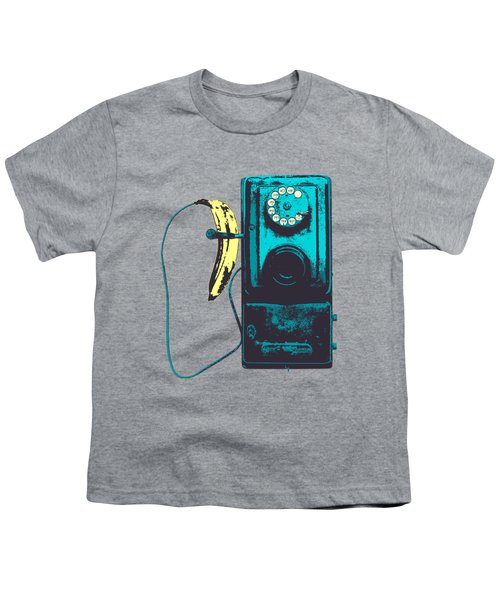 Vintage Public Telephone Youth T-Shirt by Illustratorial Pulse