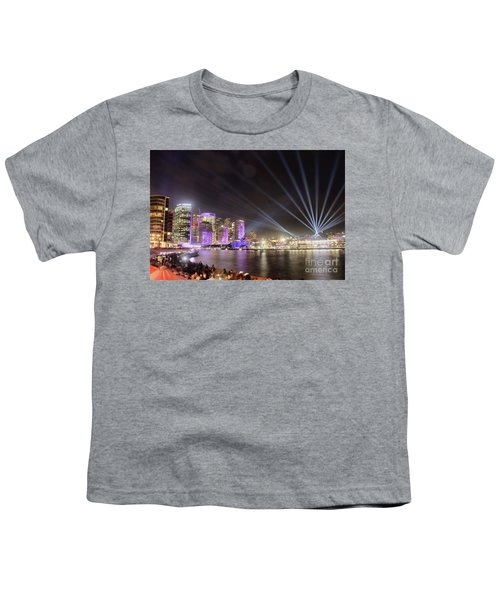 Vivid Sydney Skyline By Kaye Menner Youth T-Shirt