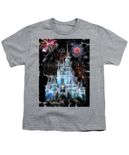 Walt Disney World Frosty Holiday Castle Mp Youth T-Shirt