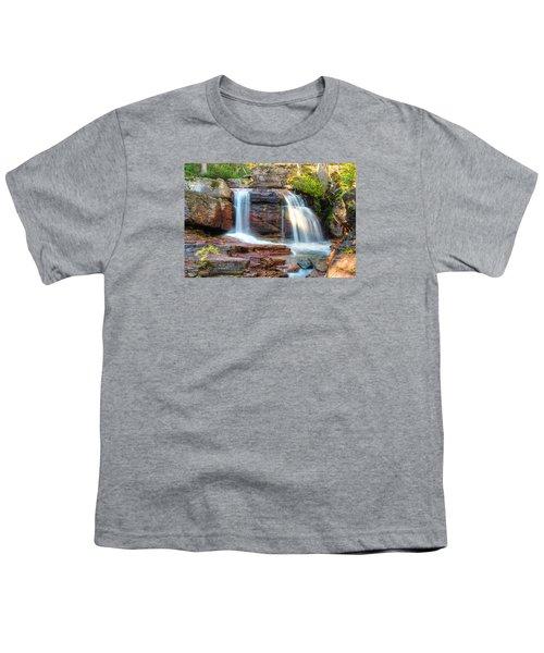 Waterfall Youth T-Shirt by Gary Lengyel