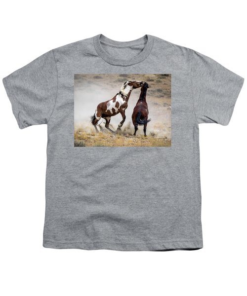 Wild Stallion Battle - Picasso And Dragon Youth T-Shirt