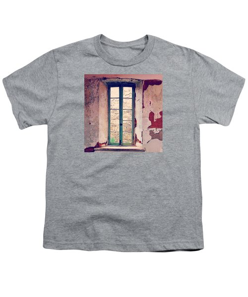 Window In Eastern State Pennitentiary Youth T-Shirt by Sharon Halteman