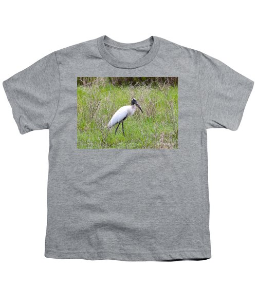 Wood Stork In The Marsh Youth T-Shirt by Carol Groenen
