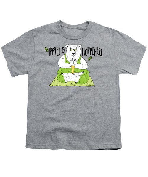 Yoga Beer Bear Youth T-Shirt