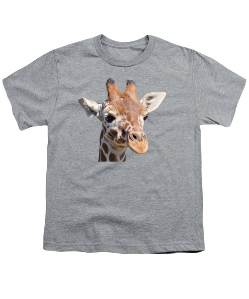 Young Giraffe  Youth T-Shirt by Scott Carruthers