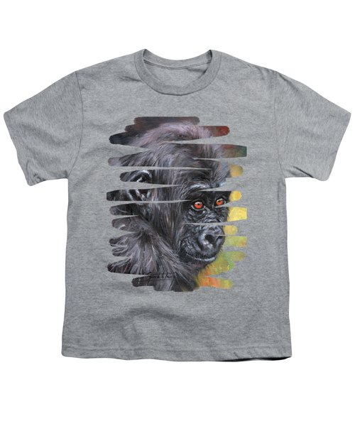 Young Gorilla Portrait Youth T-Shirt