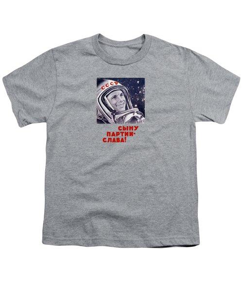 Yuri Gagarin - Soviet Space Propaganda Youth T-Shirt