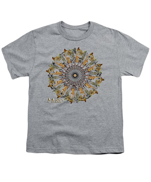 Zeerkl Of Music Youth T-Shirt by Edelberto Cabrera