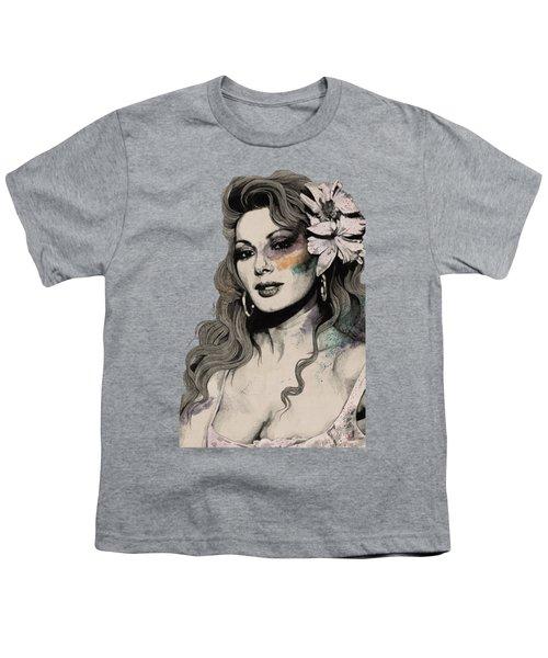 Edwige - Street Art Sexy Portrait Of Edwige Fenech Youth T-Shirt