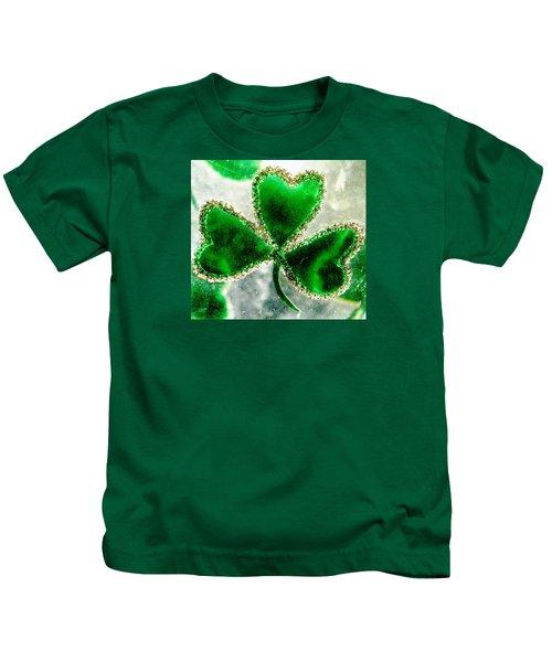 A Shamrock On Ice Kids T-Shirt