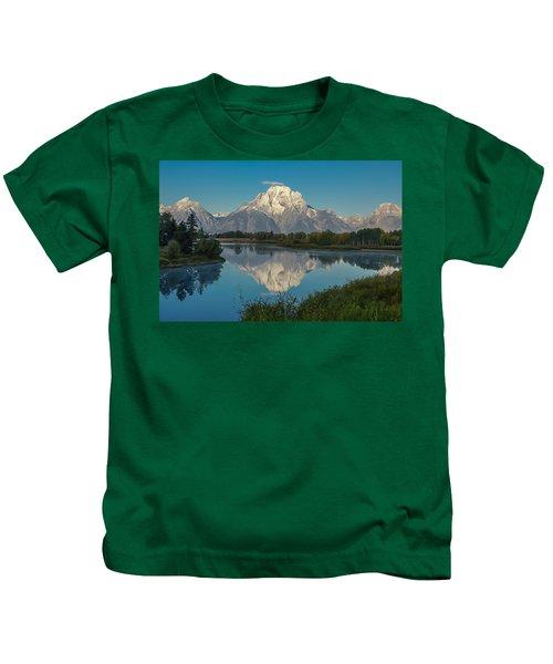Reflections Of Mount Moran Kids T-Shirt