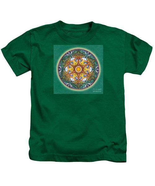 Heaven And Earth Mandala Kids T-Shirt