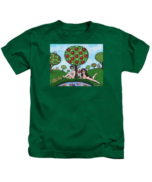 Adam And Eve The Naked Truth Kids T-Shirt