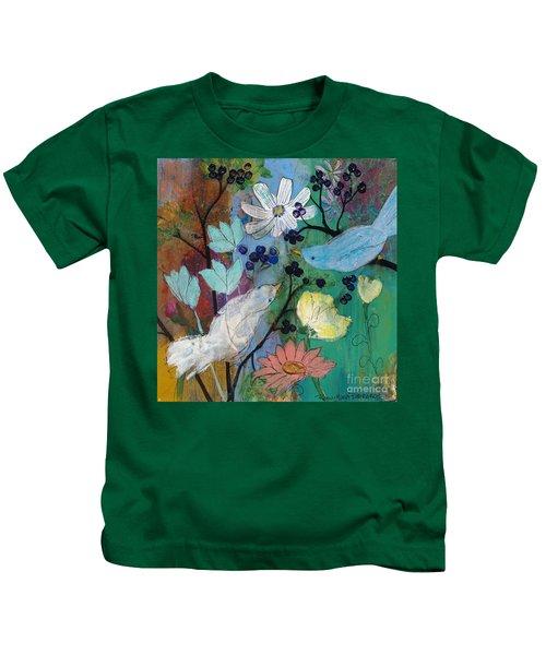 Birds And Berries Kids T-Shirt