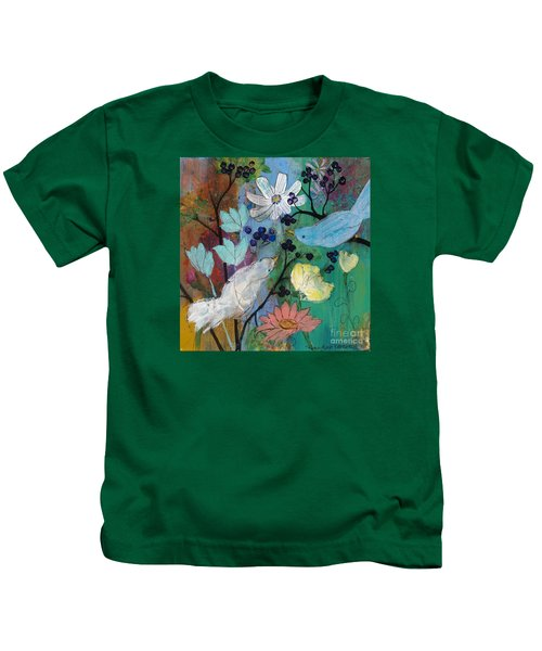 Birds And Berries Kids T-Shirt
