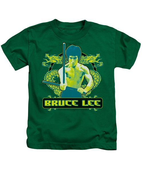 Bruce Lee - Double Dragons Kids T-Shirt by Brand A