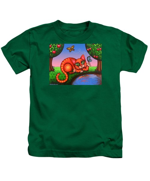 Cat In Reflection Kids T-Shirt