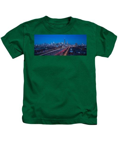 Chicago Panorama Kids T-Shirt