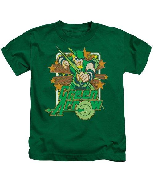 Dc - Green Arrow Stars Kids T-Shirt