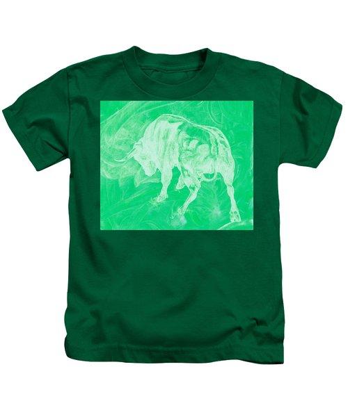 Green Bull Negative Kids T-Shirt