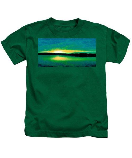 Lime Sunset Kids T-Shirt