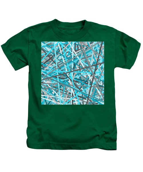 Link - Turquoise And Gray Abstract Kids T-Shirt