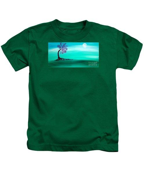 Moonlit Palm Kids T-Shirt