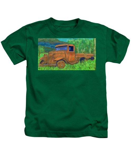 Old Canadian Truck Kids T-Shirt