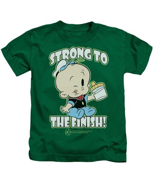 Popeye - Strong To The Finish Kids T-Shirt