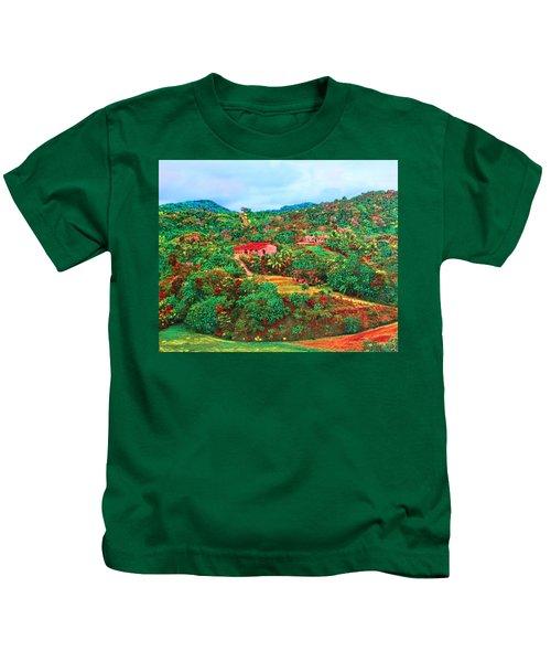 Scene From Mahogony Bay Honduras Kids T-Shirt