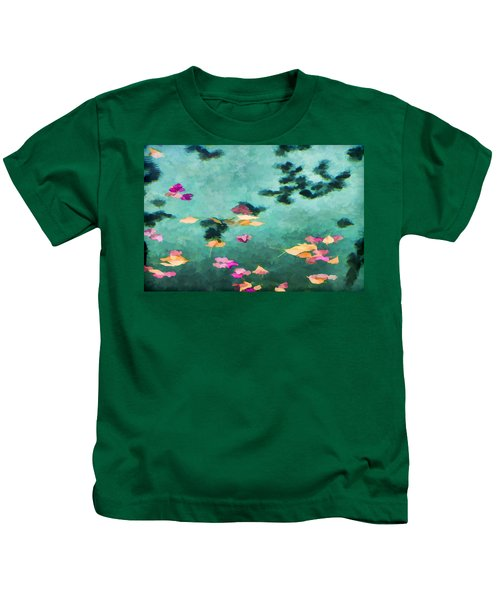 Swirling Leaves And Petals 6 Kids T-Shirt