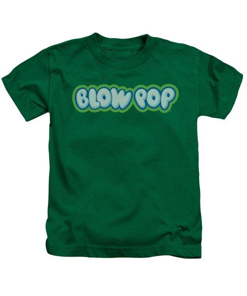 Tootsie Roll - Blow Pop Logo Kids T-Shirt