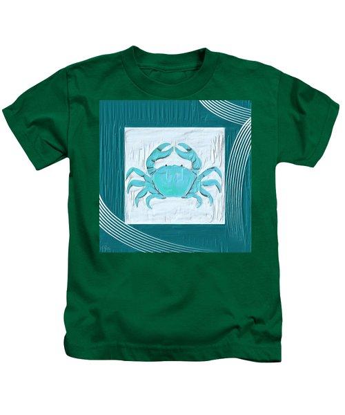 Turquoise Seashells Xix Kids T-Shirt