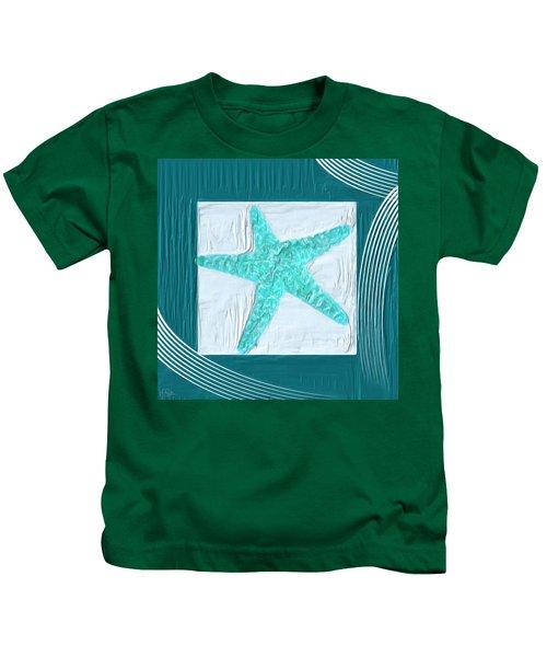 Turquoise Seashells Xvi Kids T-Shirt