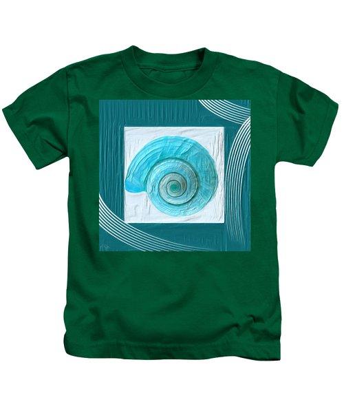 Turquoise Seashells Xvii Kids T-Shirt