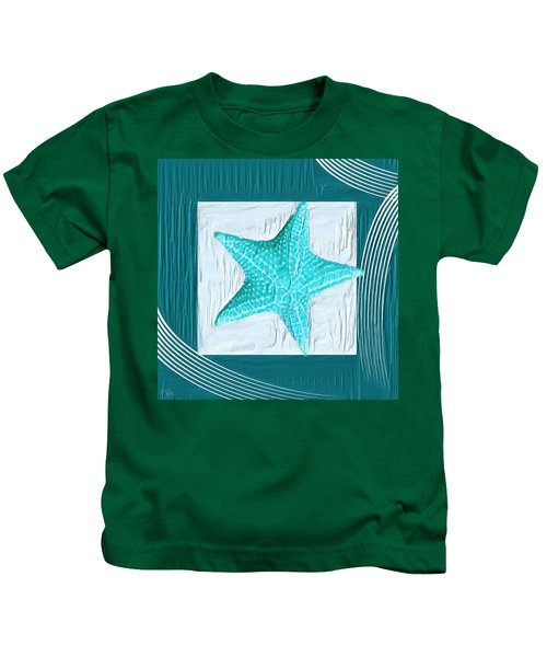 Turquoise Seashells Xviii Kids T-Shirt