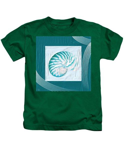Turquoise Seashells Xxi Kids T-Shirt