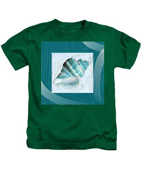 Turquoise Seashells Xxii Kids T-Shirt