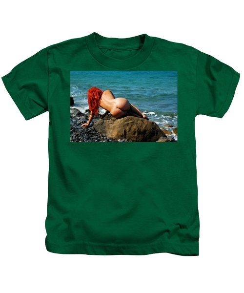 Girl With Red Hair Kids T-Shirt